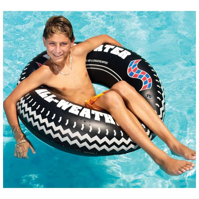 "4 x 9021 4 Swimline 902136"" Inflatable Printed Tire Tubes 1"