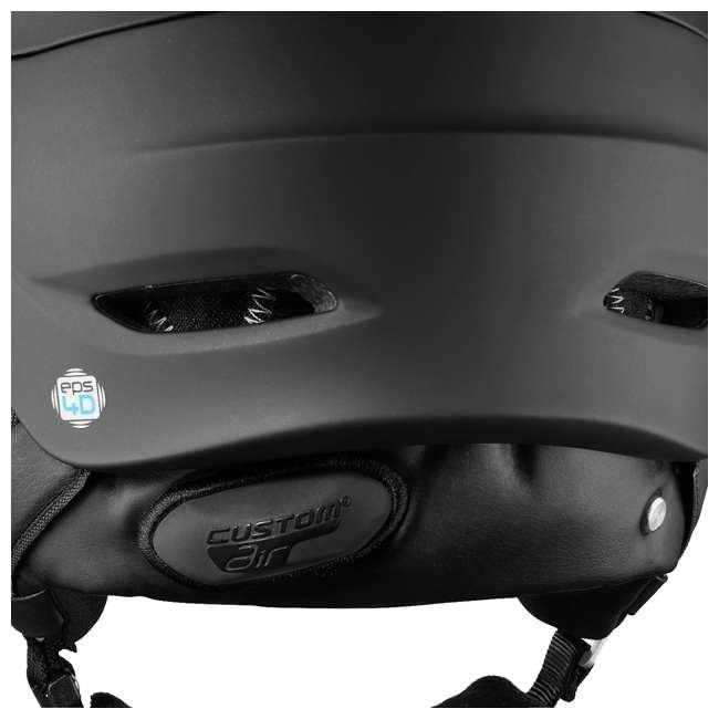 L39919359 Salomon Driver+ Mens Black & Silver Skiing Helmet with S1 & S3 Visors, Medium 2