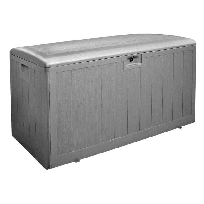 HDEDB130WLG-GS Plastic Development Group 130-Gallon Deck Box with Gas Shock Lid, Driftwood