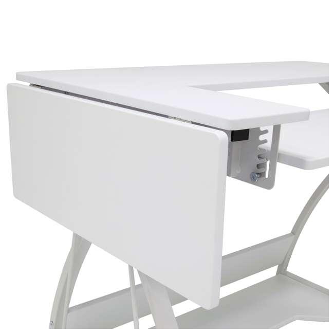STDN-38017 Sew Ready STDN-38017 Venus Sewing Machine Craft Hobby Table Computer Desk, White 8