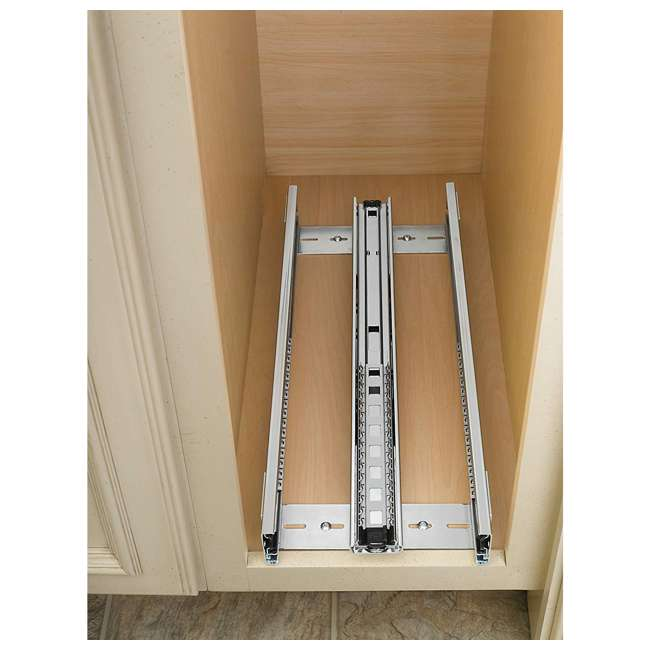 448-BC-8C-16 Rev-A-Shelf 448-BC-8C Base Cabinet Pullout Organizer w/ Wood Adjustable Shelves 3