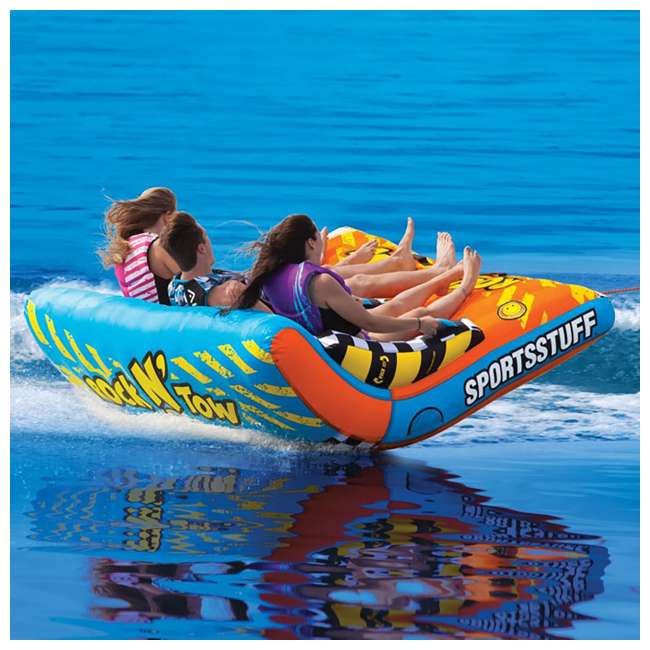 53-5230 Sportsstuff Inflatable Rock N' Tow 3 Rider Towable Boat Lake Tube (2 Pack) 5