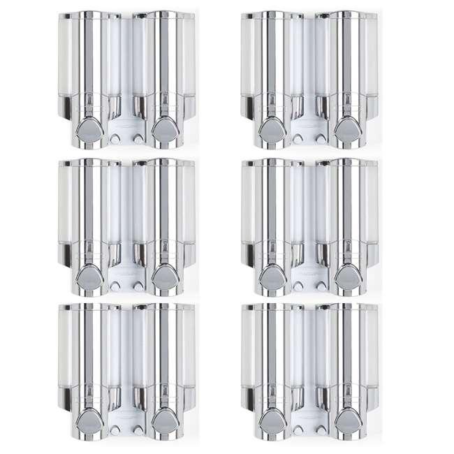 6 x 76245-1 Better Living 2 Chamber Shower Dispenser for Shampoo and Bodywash (6 Pack)