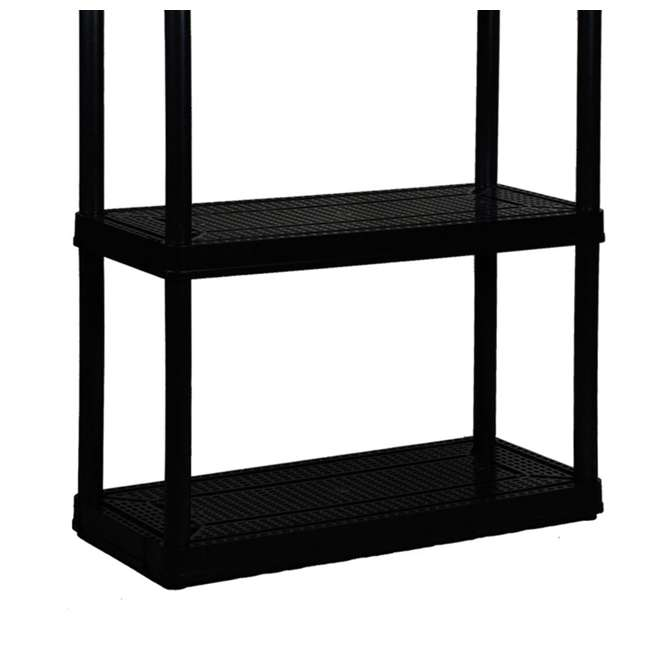 6 x GL91021MAXIT-1C-36 Gracious Living 4-Tier Resin Garage Storage Shelf, Black (6 Pack) 2