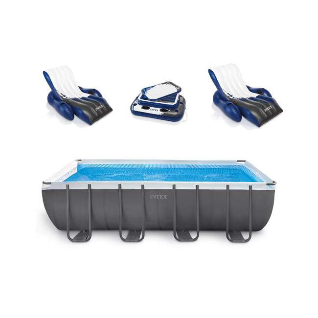 Intex 18 39 X 9 39 X 52 Ultra Frame Rectangular Swimming Pool Set 28351eh 2 X 58868ep 58821ep