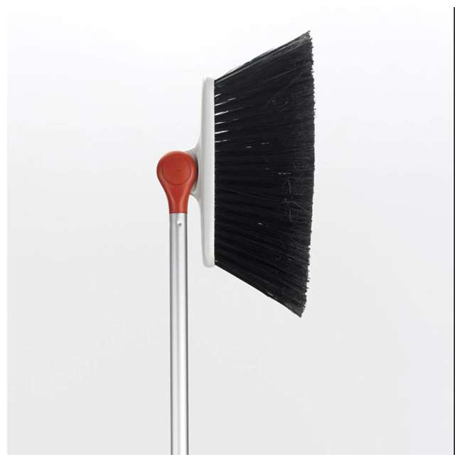 1336580 OXO Good Grips Lightweight Aluminum Frame Any Angle Household Broom, Silver 1