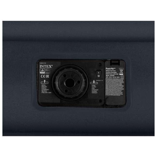 64131W Intex Deluxe Pillow Rest Air Mattress w/ Pump, Twin (2 Pack) 4