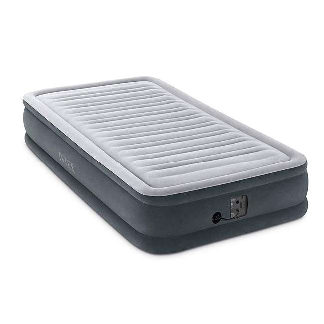 3 x 67765EP Intex Comfort Plush Dura Beam Plus Series Mid Rise Airbed w/ Pump, Twin (3 Pack) 1
