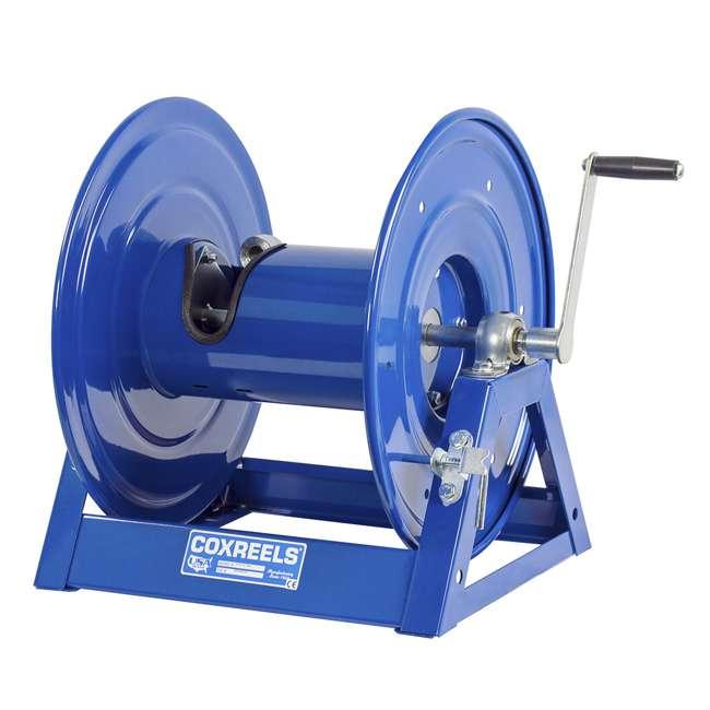 1125-4-100 Coxreels Steel Hand Crank Hose Reel 100 Foot Capacity, Blue 3