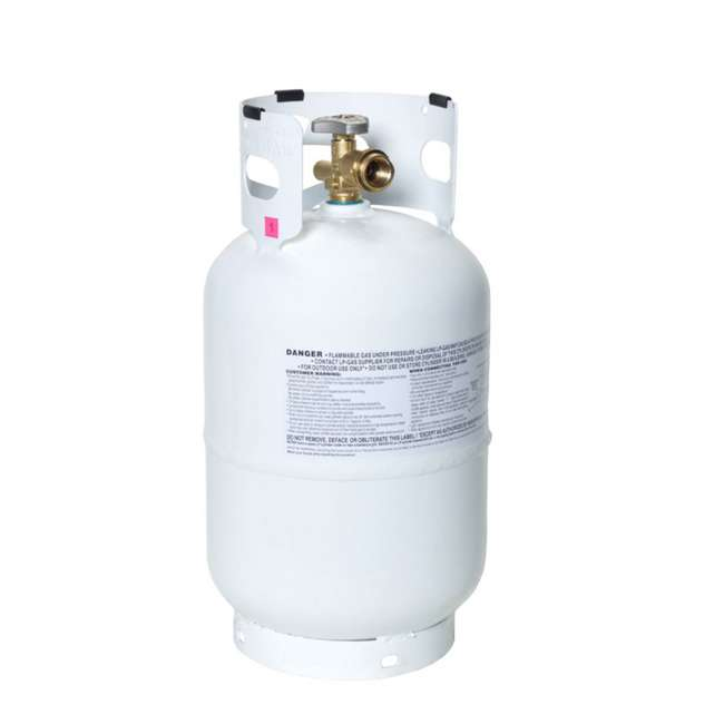 YSN10LB Flameking Portable Ready to Fill Empty LP Propane Gas Cylinder Tank, 10 Pound