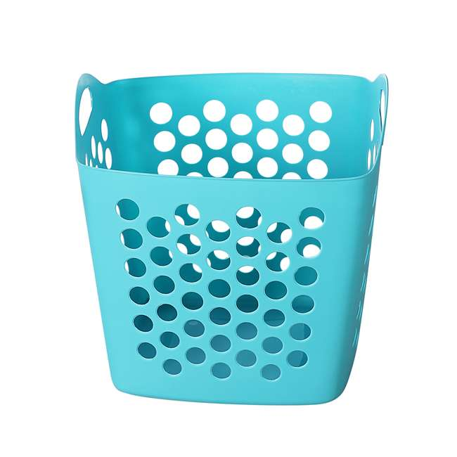 FBA32825 Ezy Storage Flexi 7 Gallon Flexible Plastic Dirty Clothes Laundry Basket Bin 2