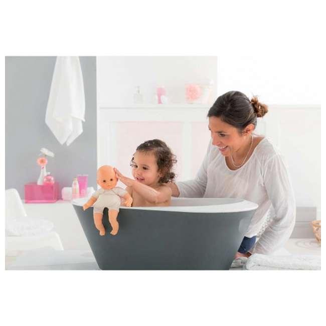 100130 + FRN90 Corolle Mon Premier Baby Bath Waterproof Coralie Doll with Duck & Toy Stroller 4