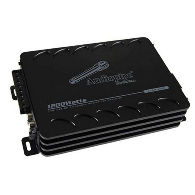 APSM4080 Audiopipe APSM-4080 1200W 4 Channel Mini Amplifier 1