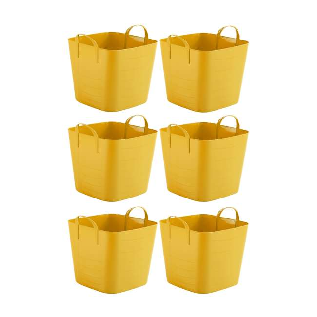 6 x Tub 40L Life Story 10.5-Gallon Plastic Storage Tote with Handles (6 Pack)