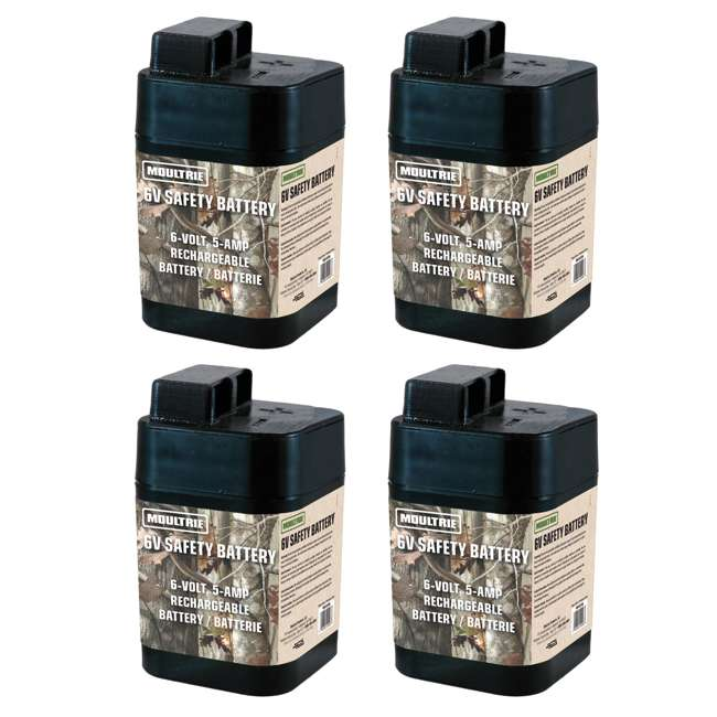 4 x MFHP12406 4) Moultrie 6 Volt Rechargeable Safety Feeder Batterys