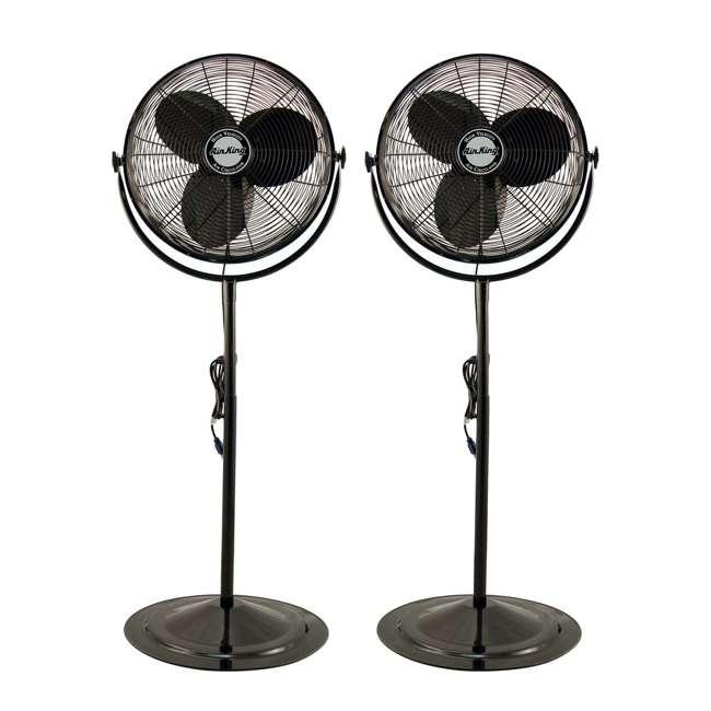 1 4 Inch Pedestal Fan : Air king inch speed hp industrial pedestal fan