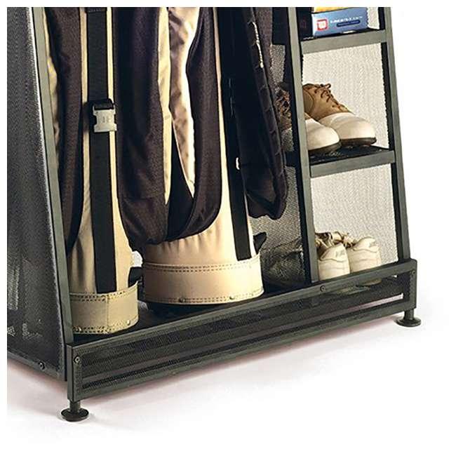 GO3216 Suncast Metal Golf Bag Organizer w/ 3 Shelves & Deep Bin (Open Box) (2 Pack) 3