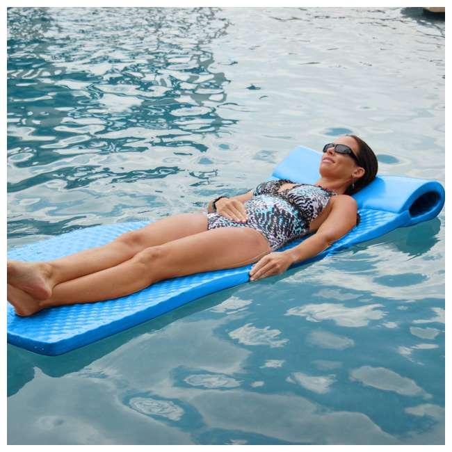 8010026-U-B Texas Recreation Soft Foam Lounger Pool Float, Bahama Blue (Used) (2 Pack) 1