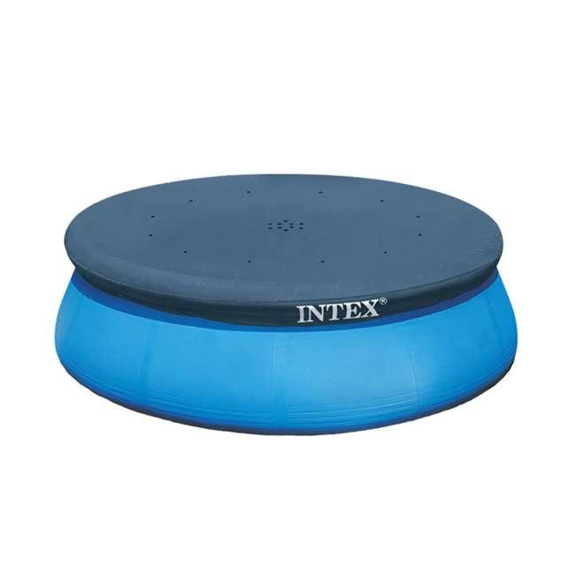 28021E-U-A Intex 10' Easy Set Swimming Pool Debris Vinyl Cover Tarp (Open Box) (2 Pack) 1
