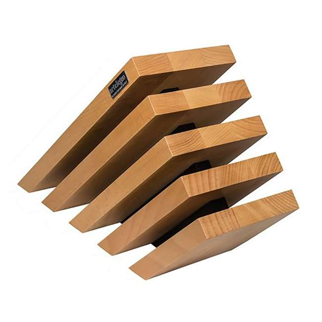 LEGNO-79 Arte Legno Beechwood 5 Element 10 Capacity Wooden Magnetic Knife Block Holder