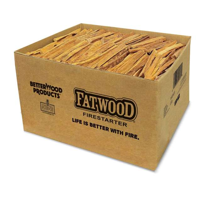 4 x BWP-09925 Betterwood Products Natural Hand Split Fatwood 25 Pound Firestarter (4 Pack) 1