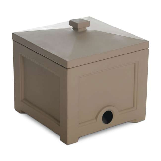 MO-5858-C Mayne Fairfield Plastic Outdoor 100 Foot Garden Water Hose Storage Box Bin, Clay