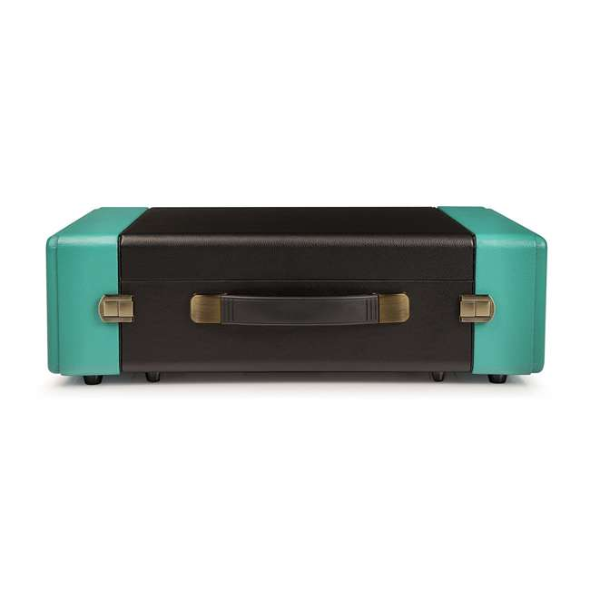 CR6230A-TU Crosley Snap USB Enabled Portable Turntable, Black/Turquoise 1