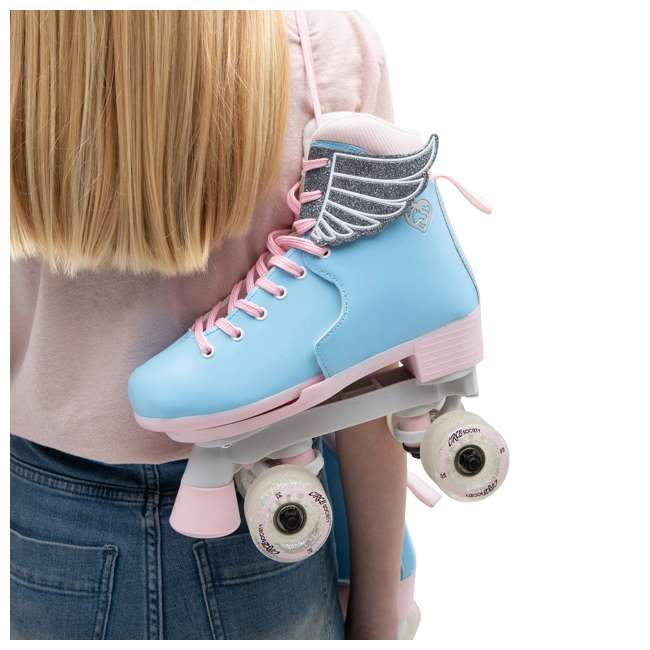 168260 Circle Society Classic Cotton Candy Kids Skates, Girls Sizes 12 to 3 6