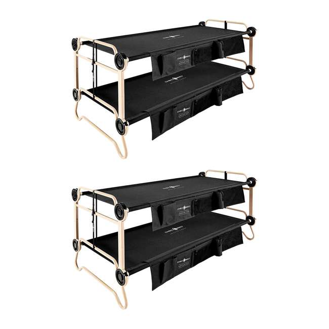 30501BO Disc-O-Bed Large Black Cam-O-Bunk Cot (2 Pack)