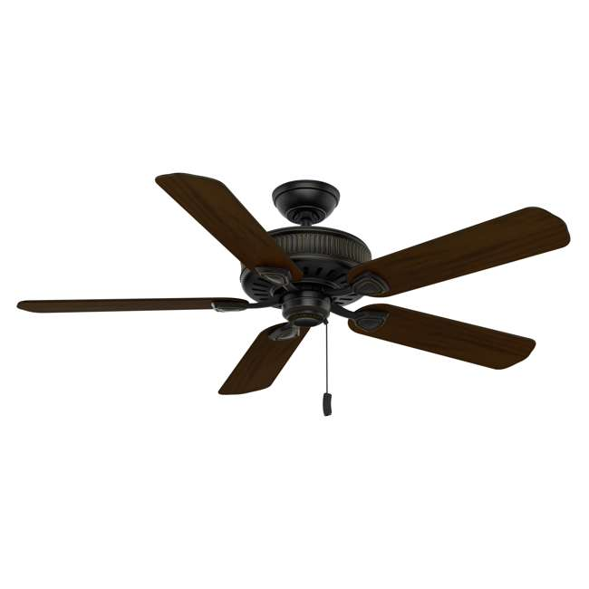 54002 Casablanca Ainsworth 54 Inch Indoor Ceiling Fan with Pull Chain, Basque Black 1
