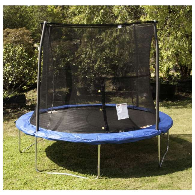 JK10VC1 JumpKing 10 Foot Outdoor Trampoline and Safety Net Enclosure, Blue 3