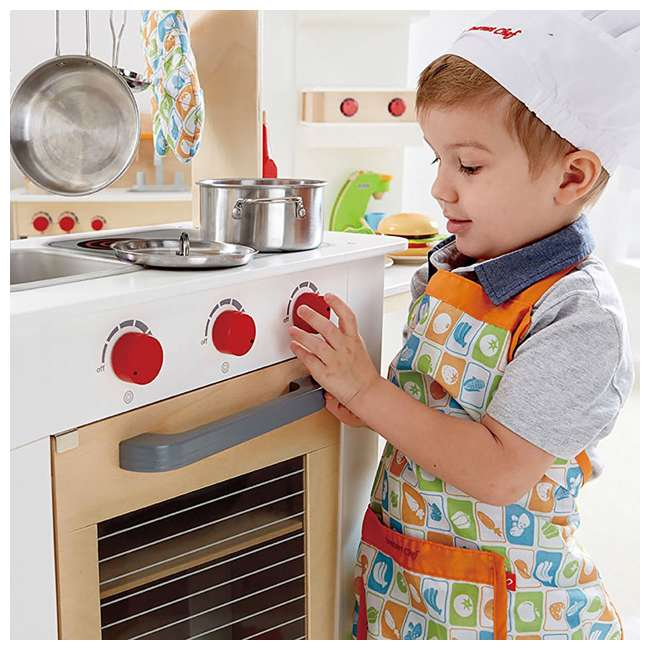 HAP-E3126 Hape Cook 'N Serve Kids Contemporary Pretend Play Wooden Kitchen 5