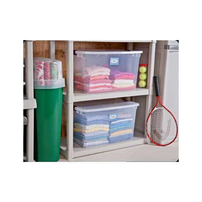 42 x 17571706 Sterilite 66-Quart ClearView Latch Box | 17571706 (42 Pack) 4