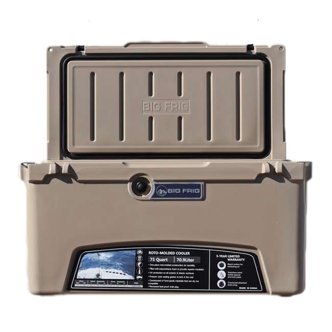 BFDB75-SD Big Frig Denali 75 Quart Insulated Cooler with Cutting Board and Basket, Sand 2