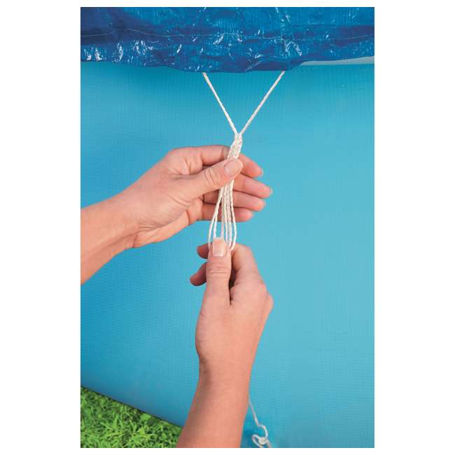 58033E-BW-U-A Bestway Flowclear Fast Set 10 Foot Above Ground Pool Cover (Open Box) (2 Pack) 2