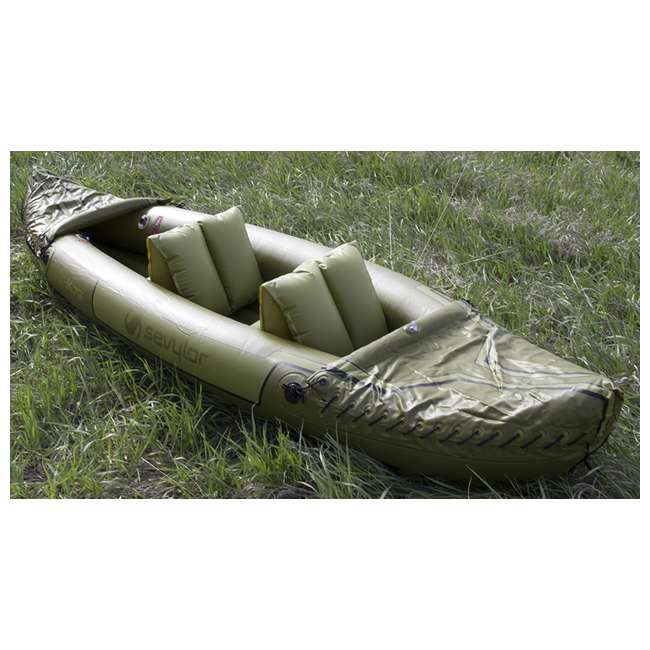 2000010629 Sevylor Tahiti 2-Person Fishing Inflatable Kayak Boat 3