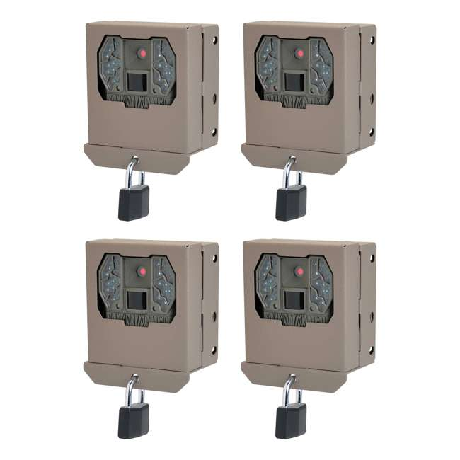 4 x STC-BBZX Stealth Cam BBZX Security Box for Game Cameras, 4 Pack