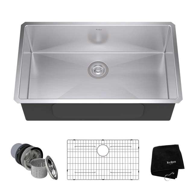 KHU100-32-OB Kraus 32-Inch Rectangular Undermount Stainless Steel Kitchen Sink (OPEN BOX)