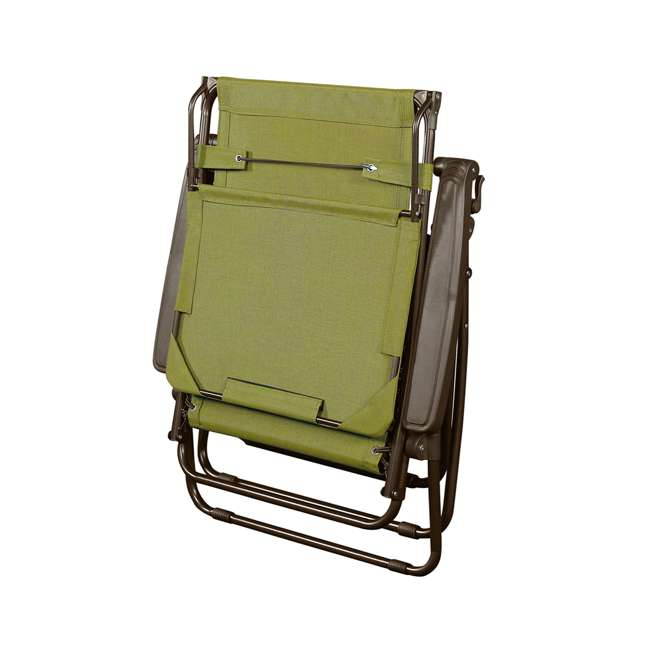 GFC-450WSG Bliss Hammocks GFC-450WSG 30 Inch Zero Gravity Chair with Canopy and Tray, Green 2