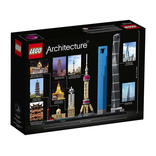 6213423 LEGO Architecture 597 Piece Shanghai Skyline Building Set for Kids 12 Years & Up 3