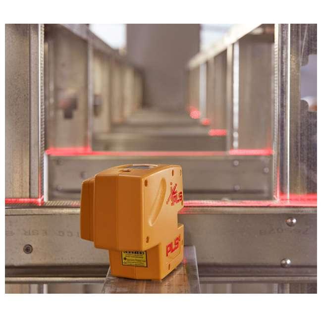 PLS-60574 Pacific Laser Systems PLS 4 Red Cross Line Laser Level w/ Plumb, Bob & Level 4