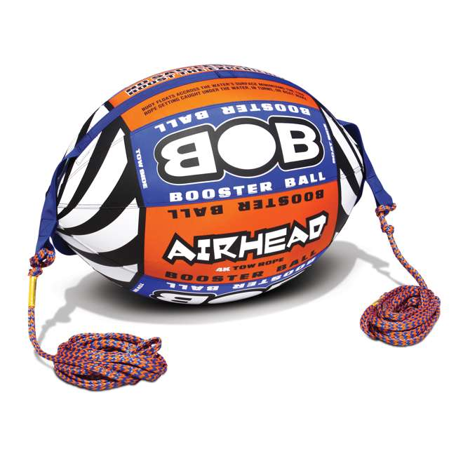 HD-3 + AHBOB-1 AIRHEAD Hot Dog 3 Person Tube & w/ Inflatable Buoy Booster Ball 4