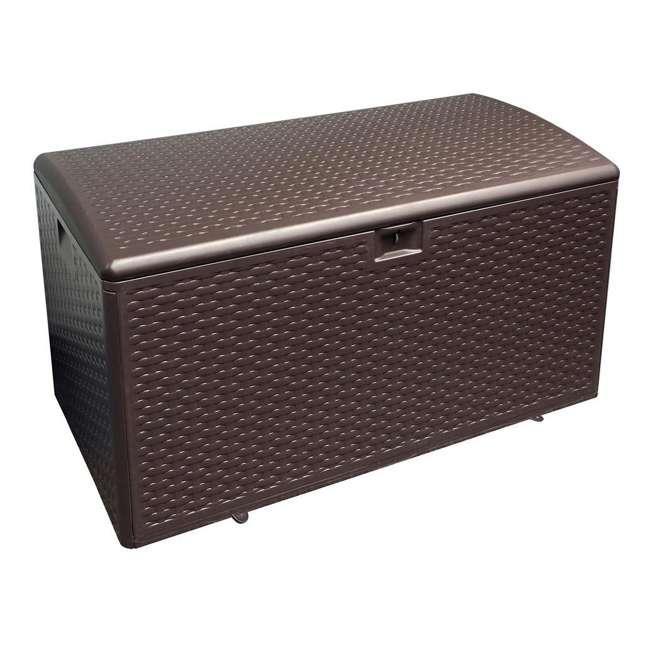 HDEDB73 Plastic Development Group 73 Gallon Resin Outdoor Storage Deck Box, Java Brown