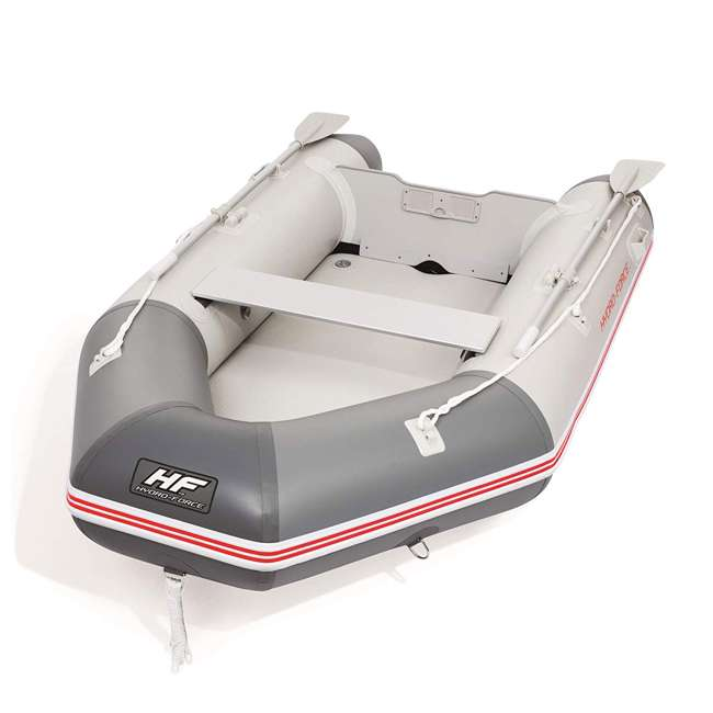 65047E-BW Bestway 110 Inch Caspian Pro Inflatable Boat Set with Oars and Pump (2 Pack) 1