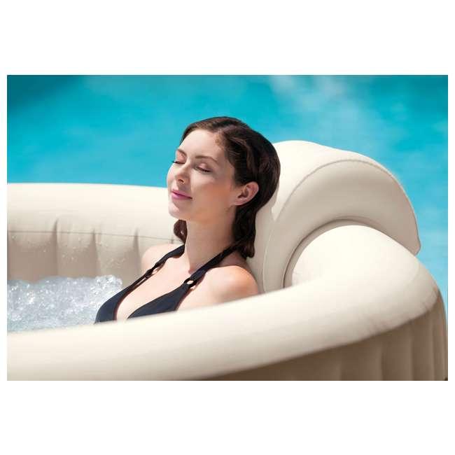 28407E + 28500E + 28501E Intex PureSpa 6-Person Inflatable Hot Tub with Drink Tray & Headrest 9