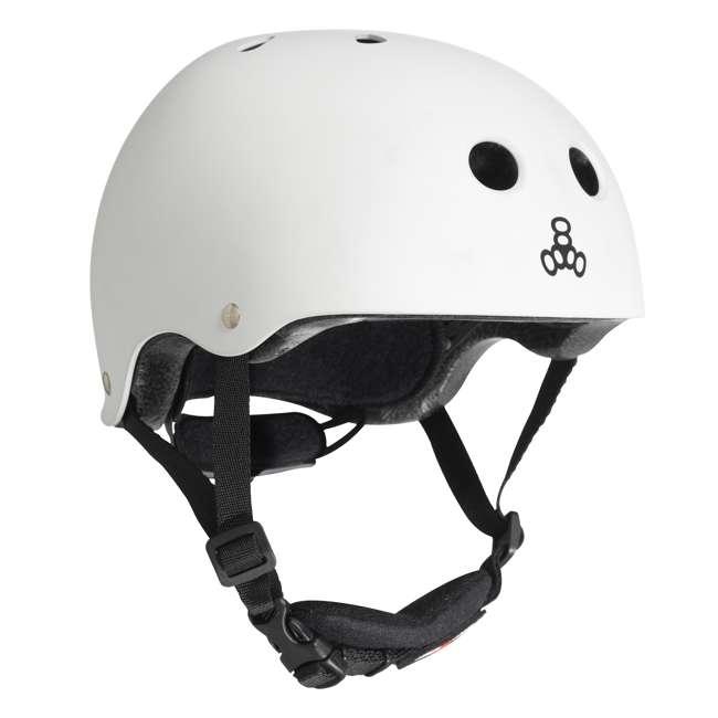 T8-3922 Triple 8 Lil 8 White Glossy Toddler Bike & Skate Helmet, 5T 3