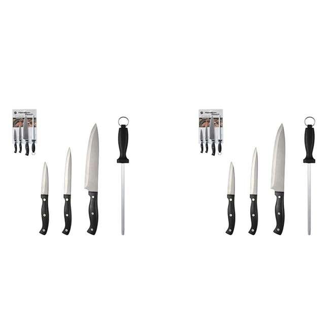HDB603 Hamilton Beach Stainless Steel 4-Piece Cutlery Set (2 Pack)