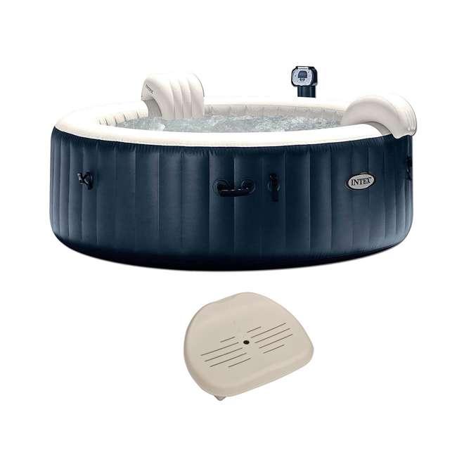 28409E + 28502E Intex Pure Spa Inflatable 6-Person Bubble Hot Tub + Slip Resistant Seat