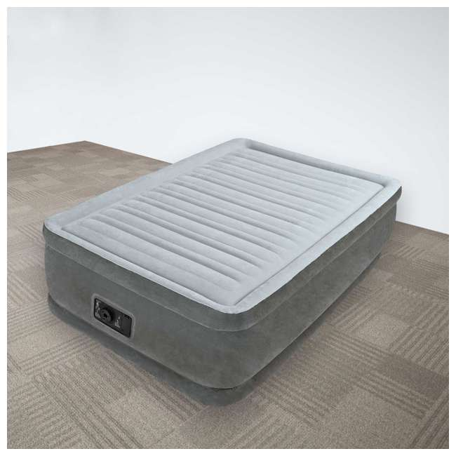 Intex Dura Beam Elevated Twin Airbed With Built In Pump