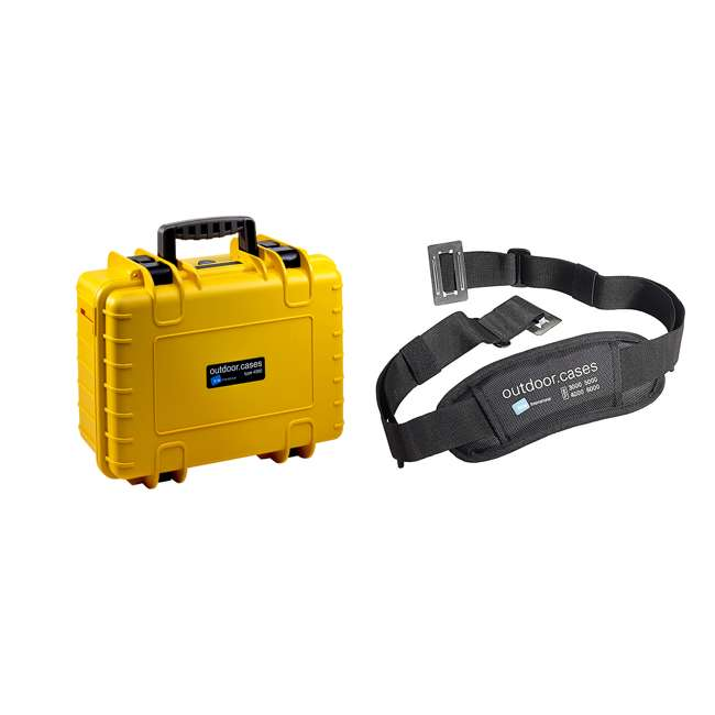 4000/Y/SI + CS/3000 B&W International Plastic Outdoor Case with SI Insert and Shoulder Carry Strap